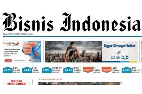 Bisnis Indonesia Cetak Seksi Utama Hari Ini (30/8/2014)