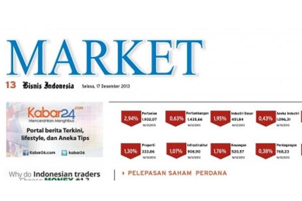 Bisnis Indonesia Cetak Seksi Market Hari Ini (30/8/2014)