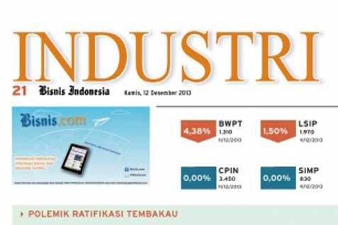 Bisnis Indonesia Cetak Seksi Industri Hari Ini (30/8/2014)