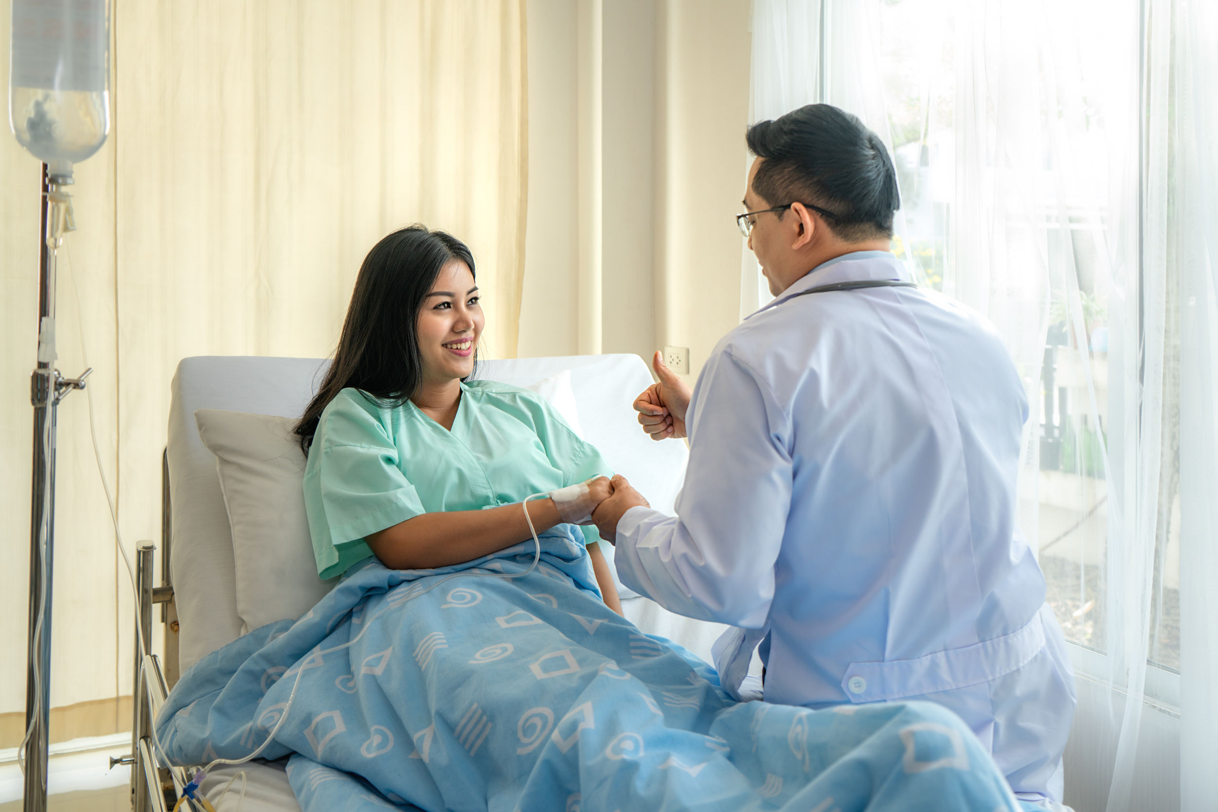 Ilustrasi: seorang pasien yang sedang dirawat