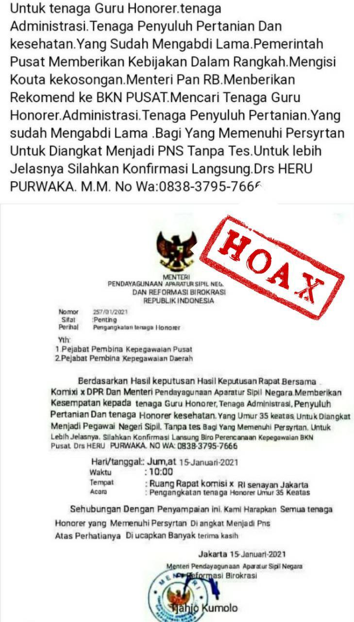 Hoax Kemenpan-RB