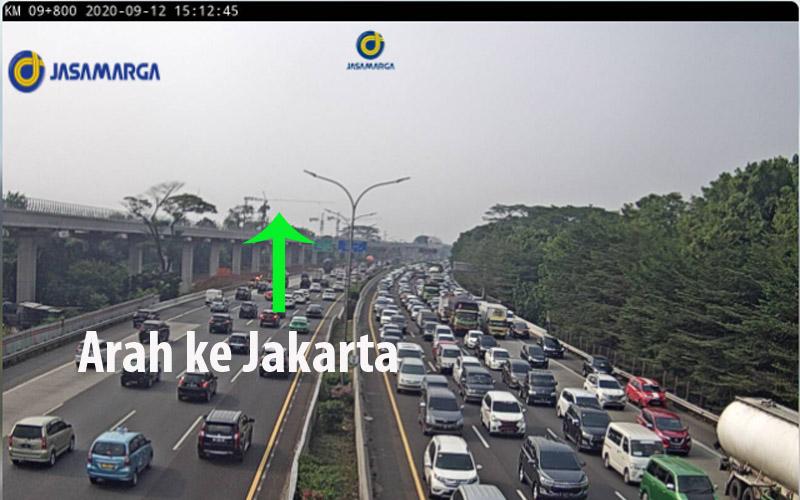 lalu lintas KM 9 tol Jagorawi