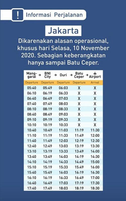 Info KA Bandara Soekarno-Hatta