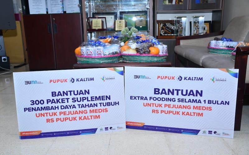 Dukung Kinerja Pejuang Medis, Pupuk Kaltim Kembali Salurkan Extra Fooding dan Suplemen ke RS Pupuk Kaltim./JIBI-Istimewa