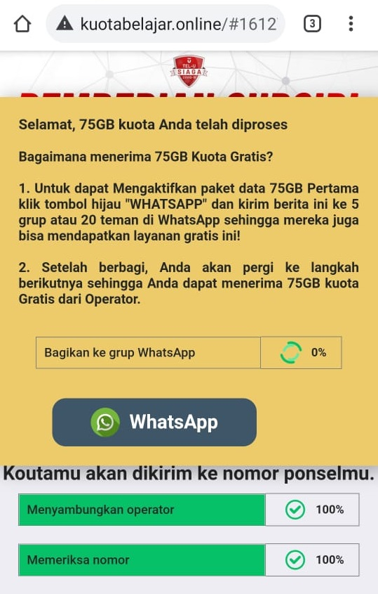 Cek Fakta Subsidi Kuota Internet 75 Gb Kominfo Benar Atau Hoaks Kabar24 Bisnis Com