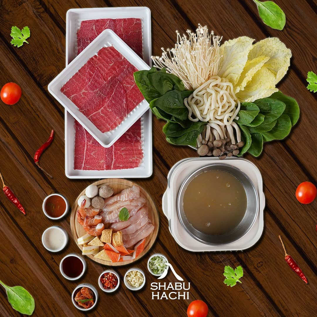 menu makanan di shabu hachi