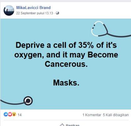masker membuat otak terganggu
