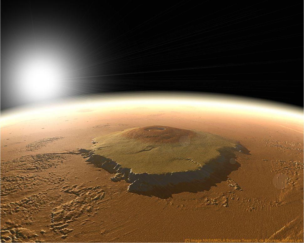 destinasi wisata planet mars