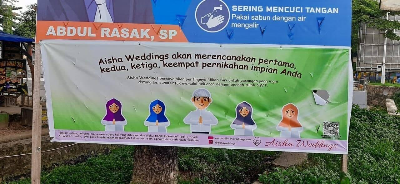 poligami, kawin sirri, aisah wedding