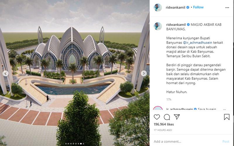 masjid agung purwokerto rancangan ridwan kamil