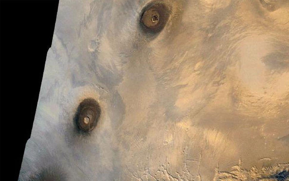 tharsis volcanos planet mars wisata