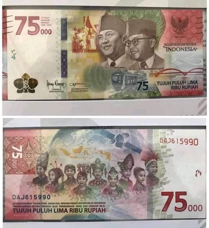 Confirm Ini Gambar Uang Rp75 000 Yang Dirilis Bi Hari Ini Finansial Bisnis Com
