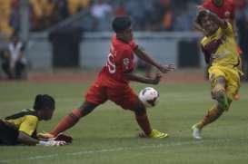 Hasil ISL, Persija Vs Sriwijaya, Laskar Wong Kito Hampir Menang, Skor Akhir 1-1