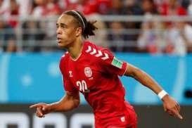 PIALA DUNIA 2018: Rayakan Ulang Tahun, Yussuf Poulsen Cetak Gol Kemenangan Denmark