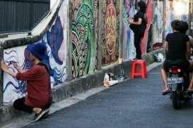Sejumlah Jalan di Denpasar Dipercantik dengan Mural