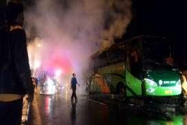 Bus Royal Safari Terbakar di Boyolali, 40 Penumpang Tunggang Langgang