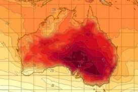 Jalan Aspal Meleleh Akibat Gelombang Panas di Australia