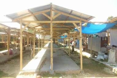 Pasar Jatitengah Sragen Direnovasi, Pedagang Pindah ke Los Darurat