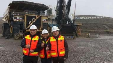 BERITA FOTO : Kunjungan Pertama Rini Soemarno ke Freeport, Melihat Grasberg Mine, Tambang Underground, Hingga 'Panen' Melon