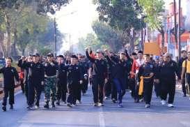 Ribuan Pesilat dari 14 Perguruan di Madiun Deklarasi Sura Damai