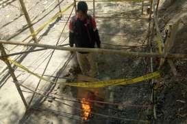 Semburan Api dari Perut Bumi di Sragen Membesar