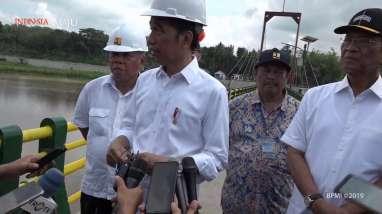 Jokowi Resmikan Bendung Kamijoro di Kabupaten Kulonprogo