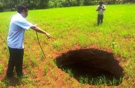 Sehabis Hujan Muncul Lubang 5 Meter di Gunungkidul, Tahun Lalu Ada 32 Lubang