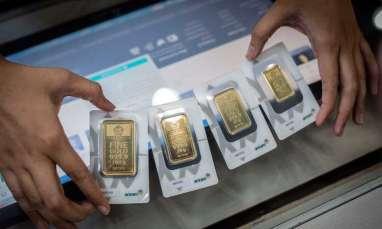 5 Terpopuler Market, Harga Emas Antam Turun Jadi Rp842.000 per gram dan Kurs Rupiah Ditutup Tembus Rp14.393 per dolar AS