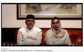 Rayakan Idulftri 2020, Sri Mulyani Gelar Halalbihalal Online dengan Jajaran Kemenkeu
