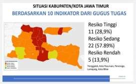 Positif Covid-19 di Jatim Bertambah 273 Orang, Ini Zona Risikonya