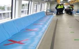 Penumpang LRT Sumsel Mulai Bertambah di Tengah PSBB II Covid-19
