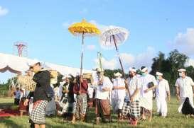 Bandar Udara I Gusti Ngurah Rai Laksanakan Upacara Peneduh Jagat Bali, Mepekelem, & Mebebangkit