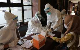 Pengawas UTBK Universitas Brawijaya Menjalani Rapid Test