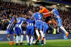 Hasil Liga Inggris: Kalahkan Norwich, Brighton Jauhi Zona Degradasi