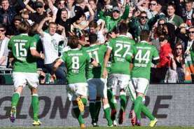 Unggul Gol Tandang, Werder Bremen Bertahan di Bundesliga
