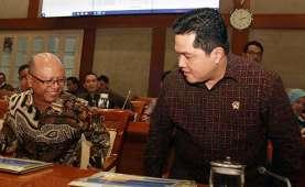 Temui Lima Pimpinan KPK, Ini yang Dibahas Erick Thohir