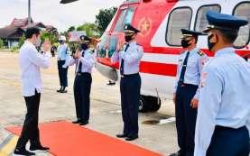 Berkunjung ke Kapuas, Presiden Jokowi Gunakan Heli Merah Putih