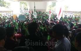 Pengemudi Gojek Batam Berdemo Tuntut Penurunan Tarif 20 Persen