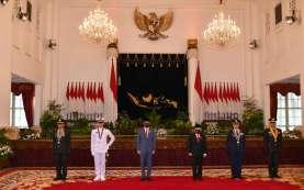 Presiden Jokowi Pimpin Pelantikan Perwira Remaja TNI dan Polri Tahun 2020