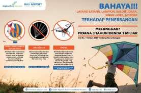 Gandeng Desa Adat, Bandara I Gusti Ngurah Rai Sosialisasi Bahaya Layang-Layang terhadap Penerbangan