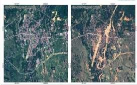 Begini Citra Satelit Luwu Utara Sebelum & Sesudah Banjir Bandang