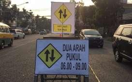 Hari Pertama Rekayasa Lalu Lintas di Jalan Jakarta Lancar