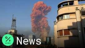 Detik-Detik Ribuan Ton Amonium Nitrat Meledak di Beirut Lebanon