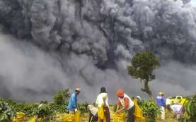 Warga Diminta Waspadai Lahar Panas Sinabung