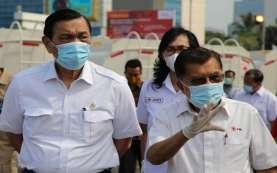 Luhut dan JK Lepas Ratusan Armada Penyemprot Disinfektan di Jabodetabek