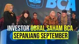 Sepanjang September Harga Saham BCA Diobral