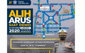 Gebrak Demo UU Cipta Kerja, Hindari Jalan Thamrin dan Istana Merdeka