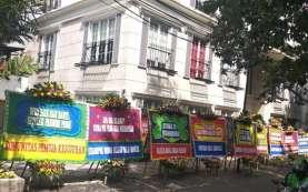 Tolak Kenaikan Gaji DPRD DKI, Kantor DPP PSI Banjir Karangan Bunga