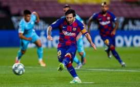 Hasil La Liga : Barcelona & Atletico 3 Poin, Messi Lewati Pele