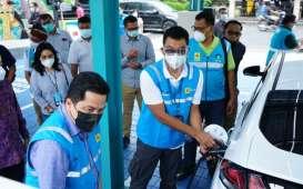 Erick Thohir Optimistis BUMN Produksi Baterai Mobil Listrik pada 2023